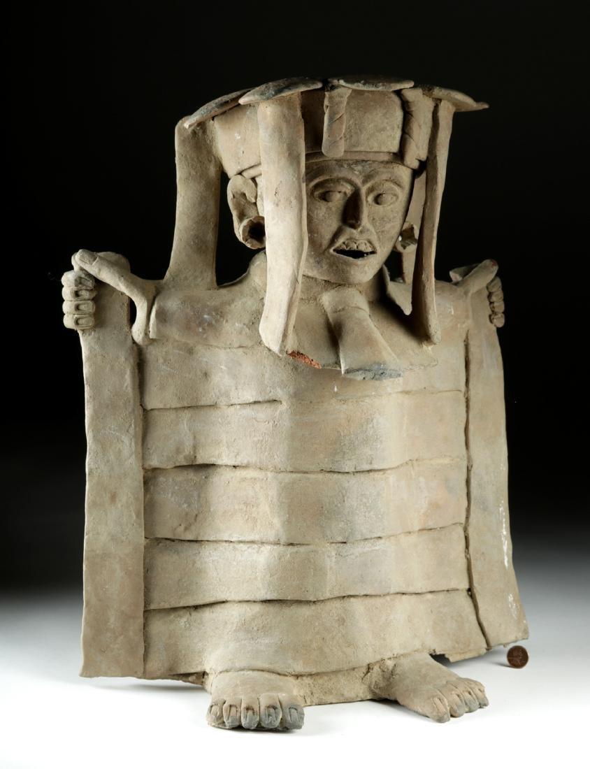 Veracruz Pottery Standing Figure in Cape w/ TL