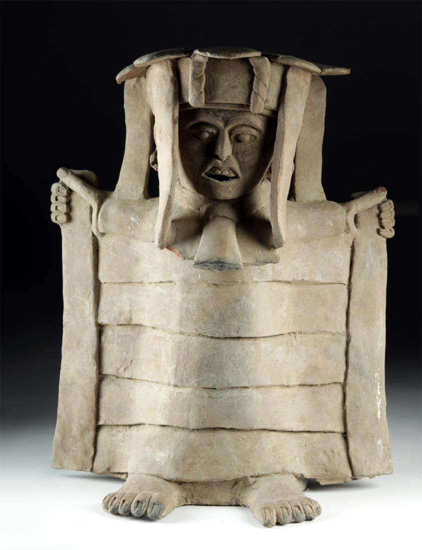 Veracruz Pottery Standing Figure in Cape w/ TL - 2