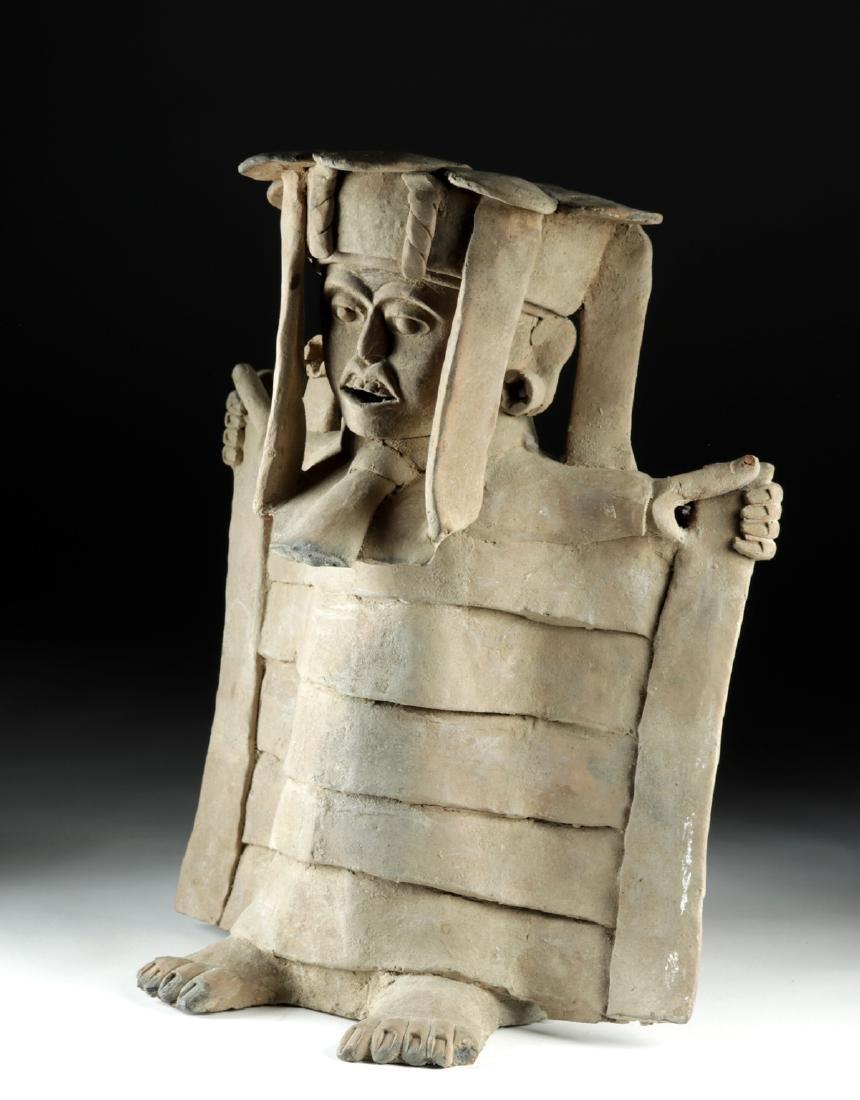 Veracruz Pottery Standing Figure in Cape w/ TL - 3