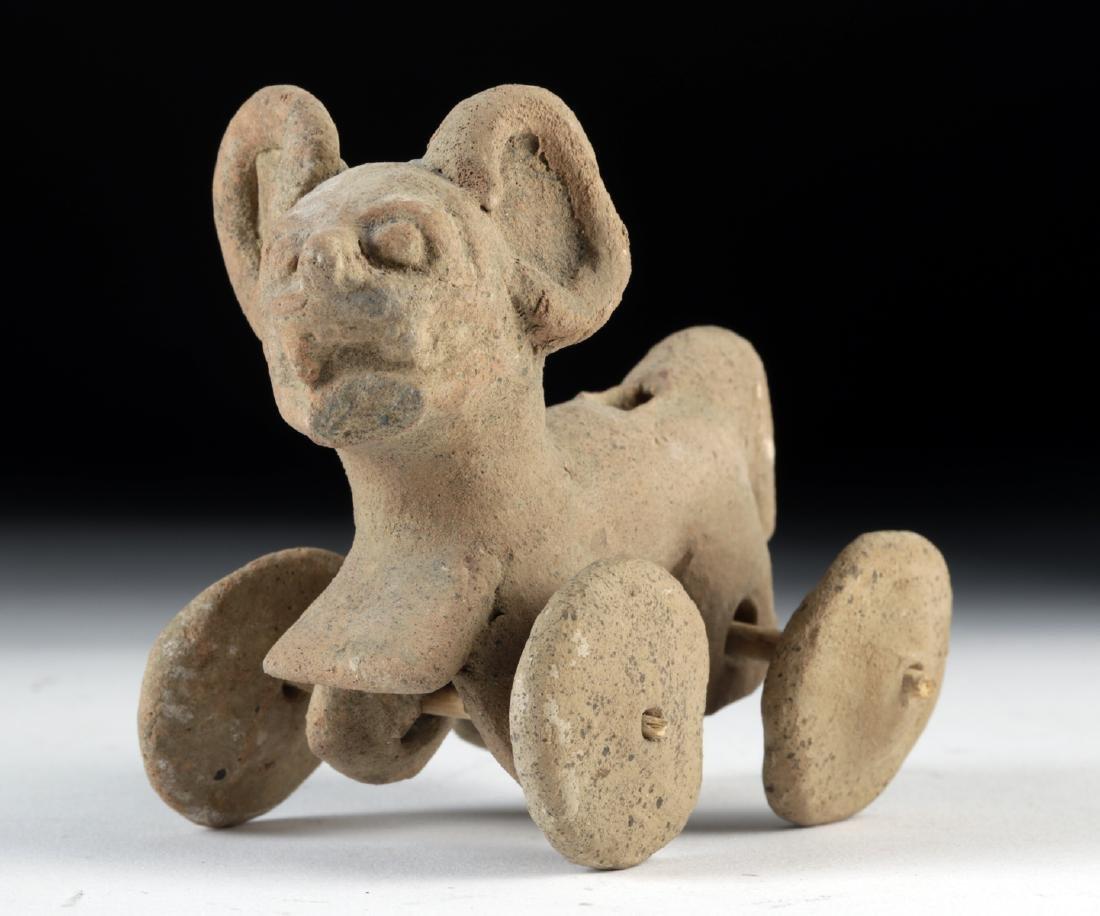 Veracruz Pottery Jaguar Wheel Toy - Whistle