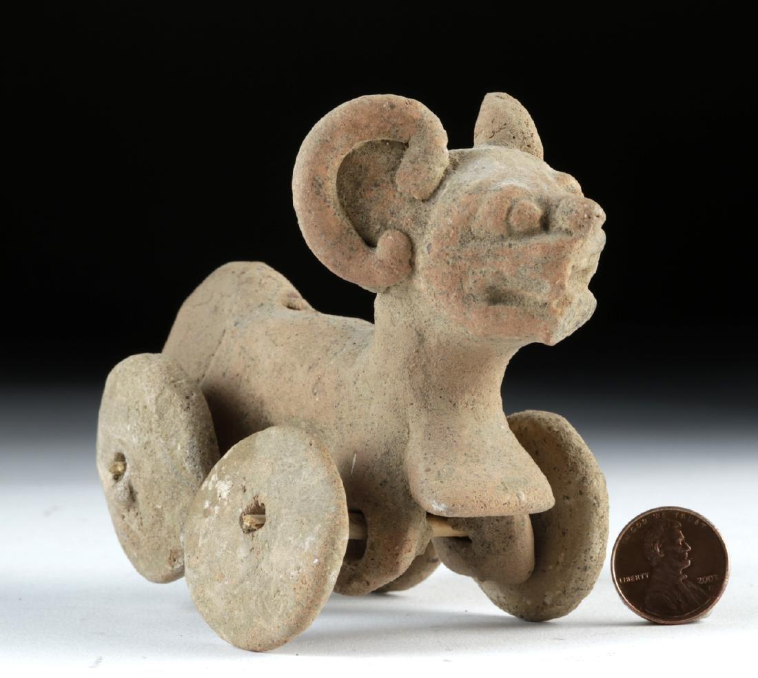 Veracruz Pottery Jaguar Wheel Toy - Whistle - 2