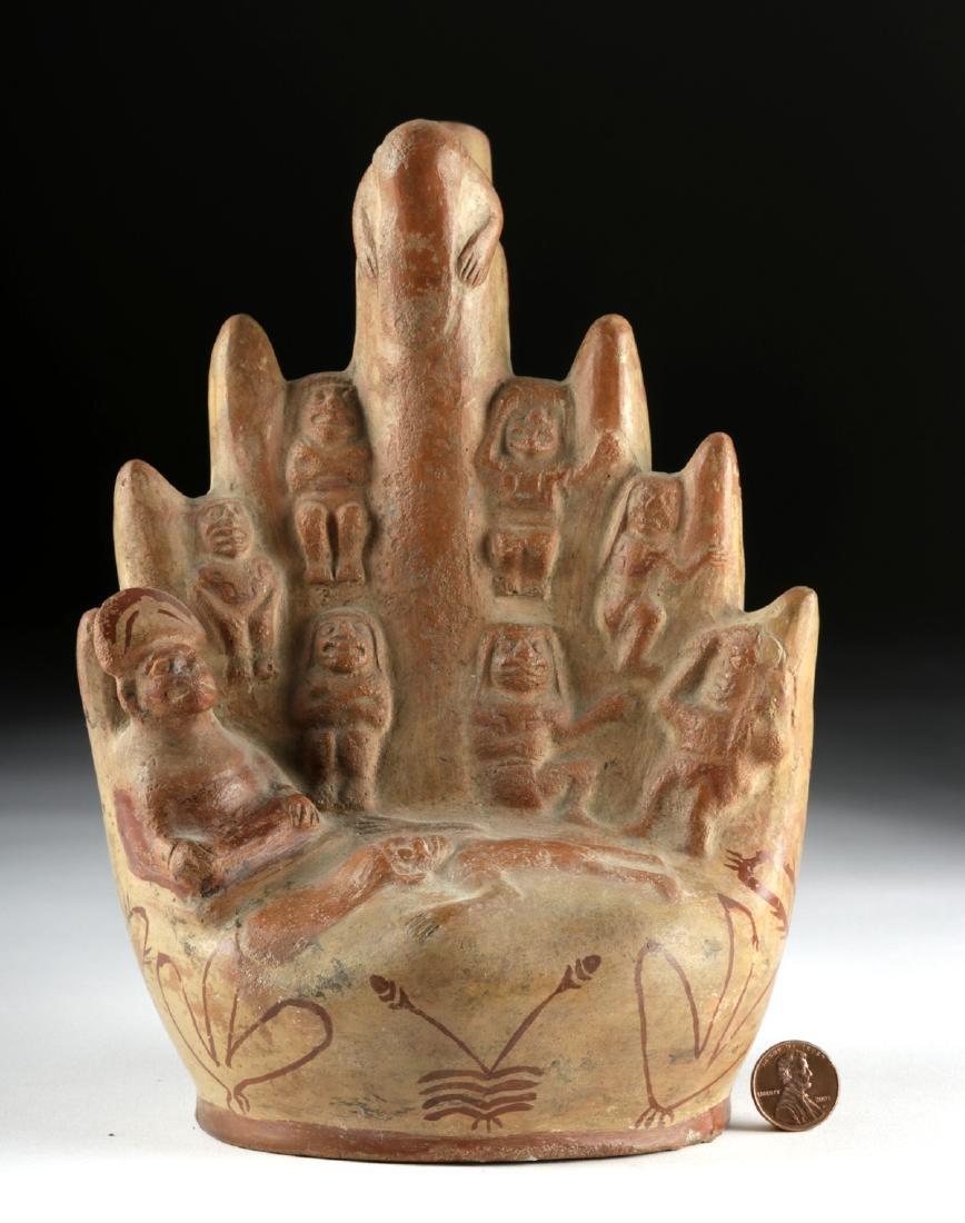 Moche Fineline Pottery Vessel with Cliff Sacrifice - 2