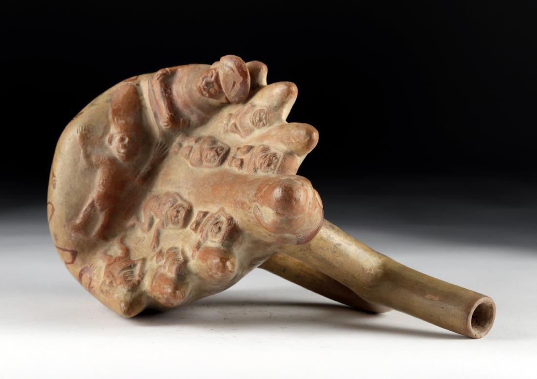 Moche Fineline Pottery Vessel with Cliff Sacrifice - 5