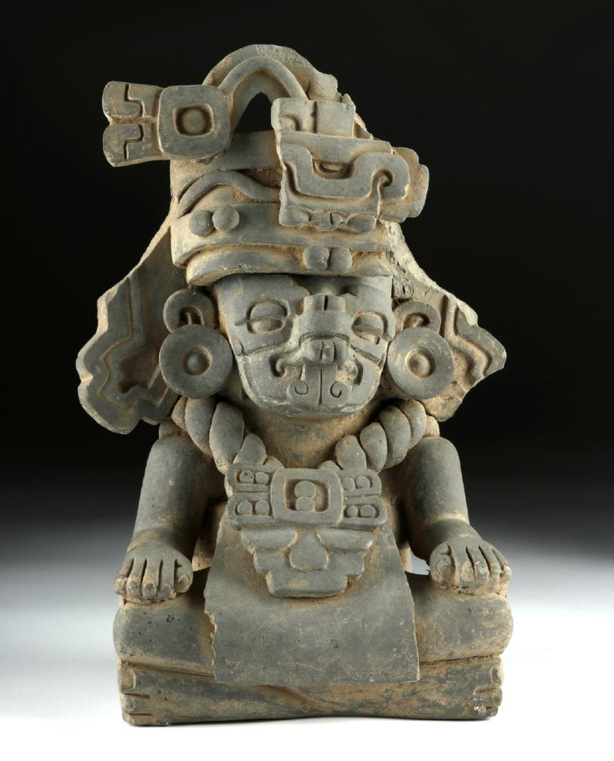 Monte Alban Grayware Effigy Urn - Rain God Cocijo