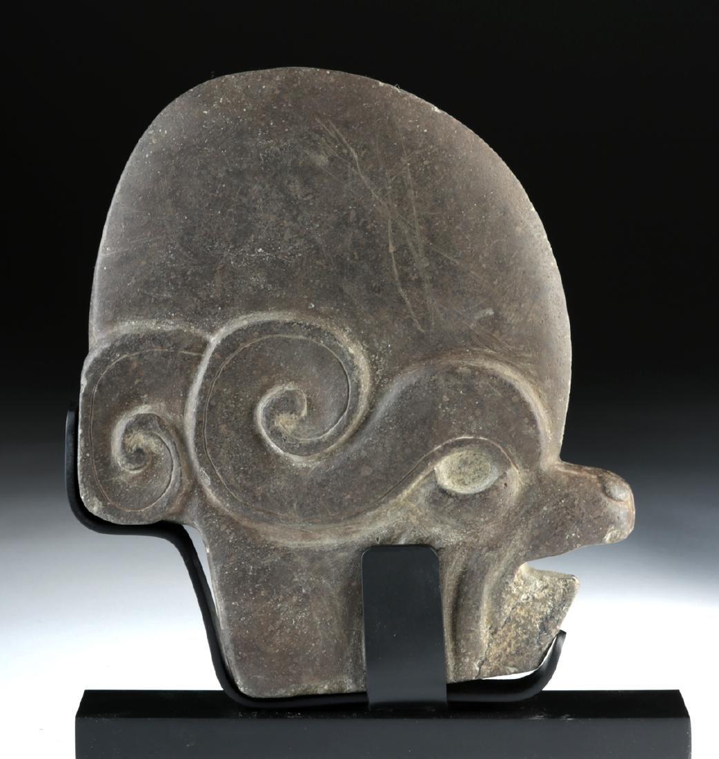 Maya Stone Hacha - Animal / Human Effigy - 2