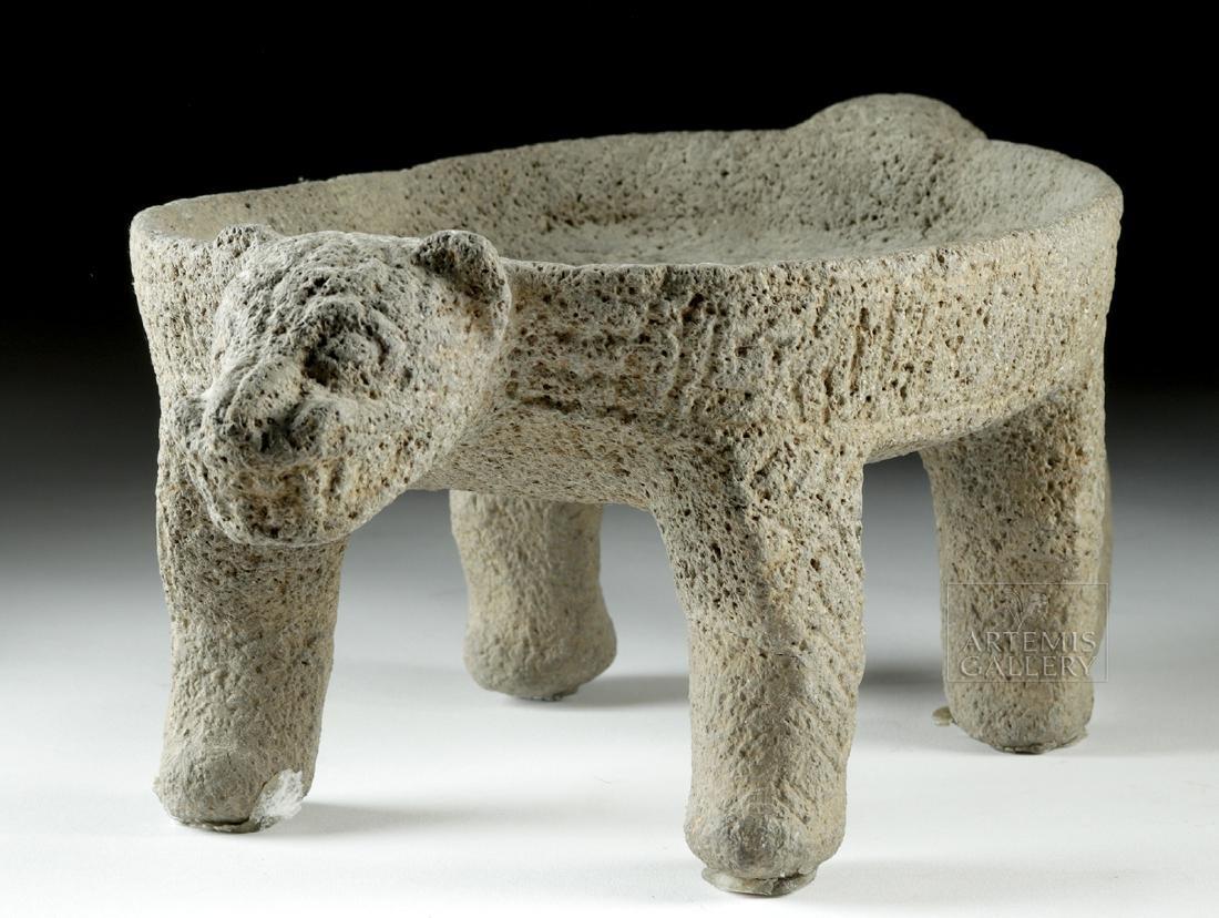 Costa Rican Stone Jaguar Metate