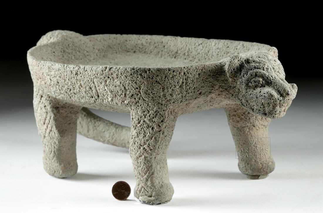Costa Rican Stone Jaguar Metate - 2