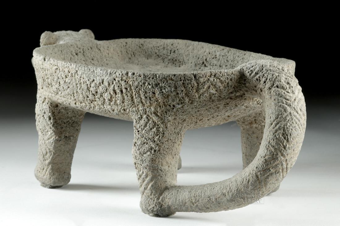 Costa Rican Stone Jaguar Metate - 3