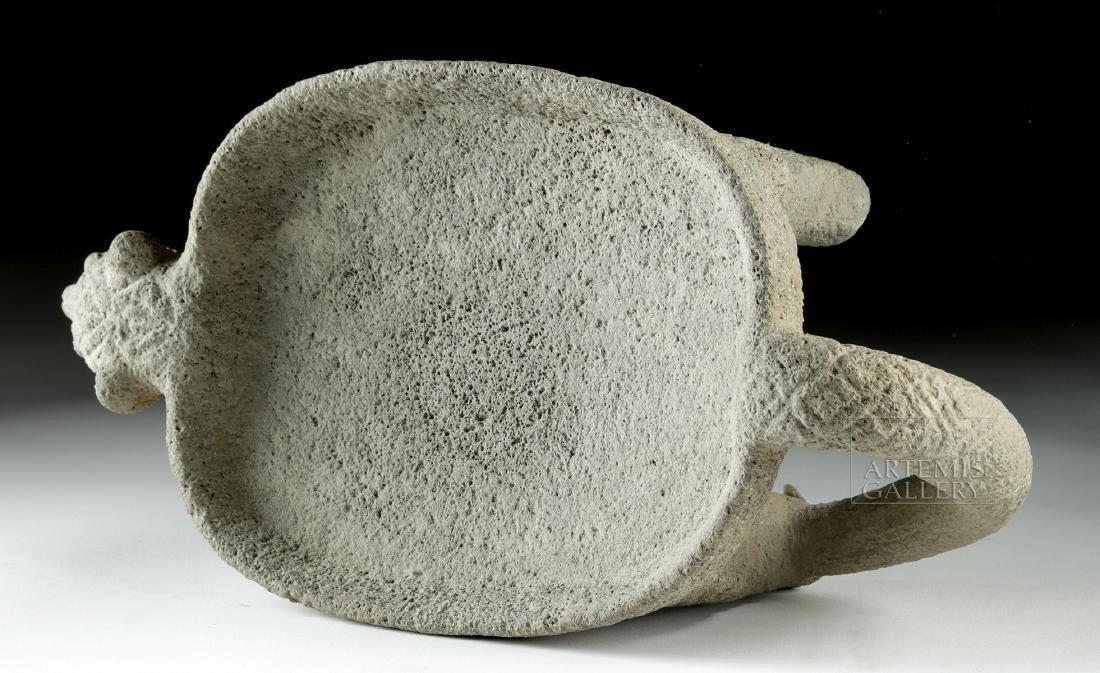 Costa Rican Stone Jaguar Metate - 5