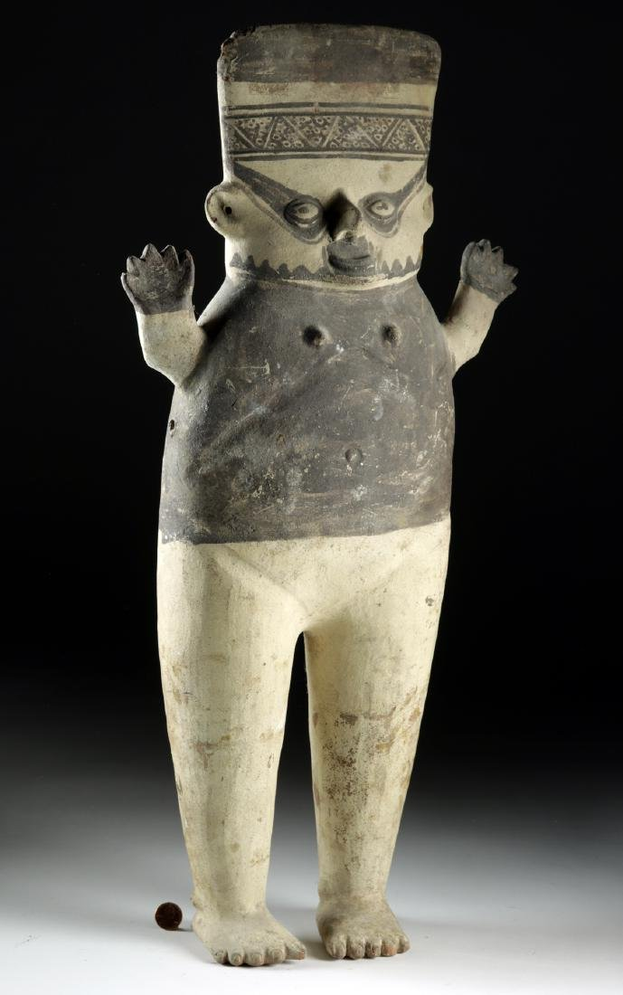 Tall Chancay Pottery Standing Cuchimilco - Female - 2