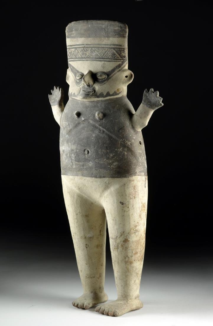 Tall Chancay Pottery Standing Cuchimilco - Female - 3