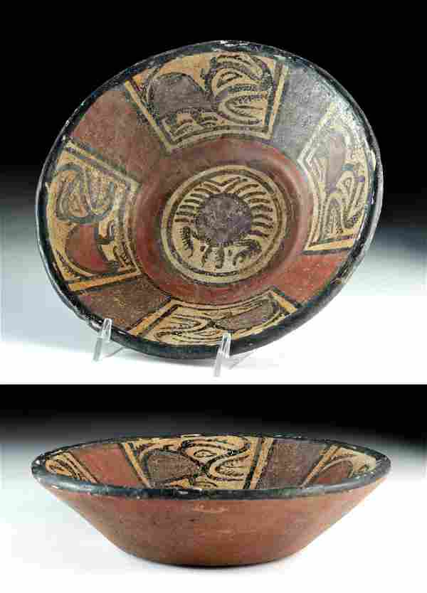 Panamanian Cocle Polychrome Bowl w/ Crab & Beasts