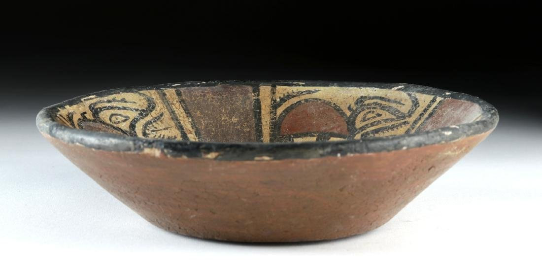 Panamanian Cocle Polychrome Bowl w/ Crab & Beasts - 2