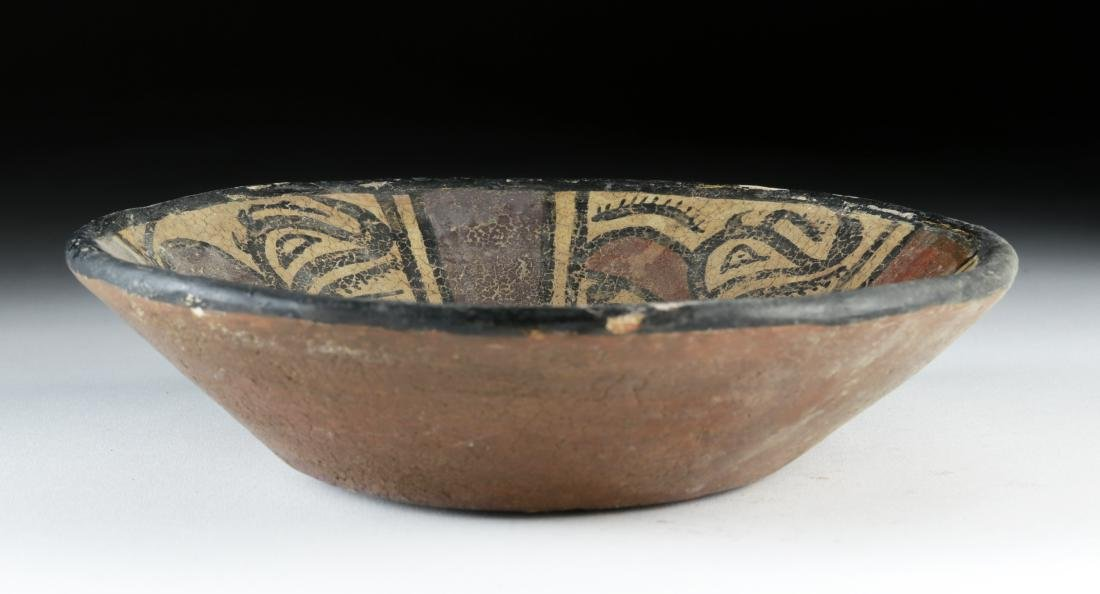 Panamanian Cocle Polychrome Bowl w/ Crab & Beasts - 4