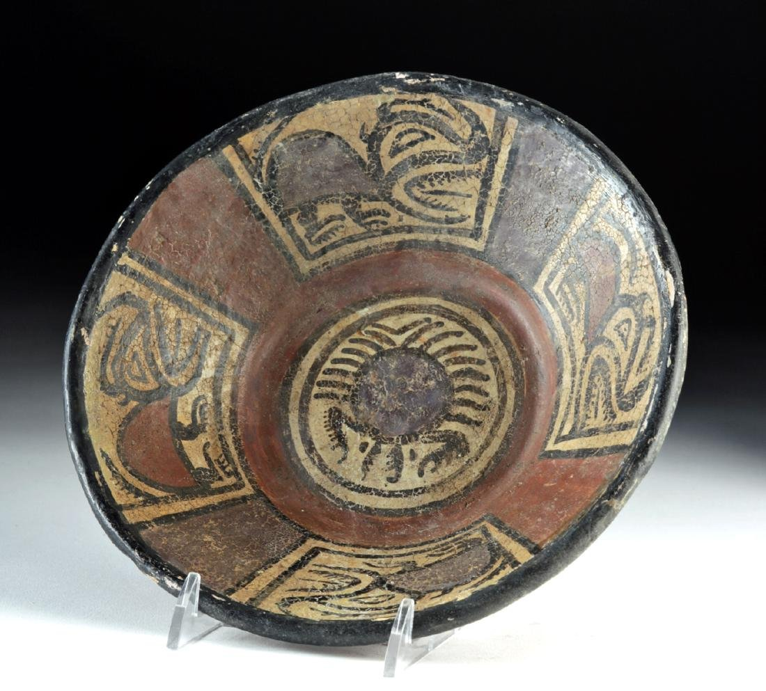 Panamanian Cocle Polychrome Bowl w/ Crab & Beasts - 5