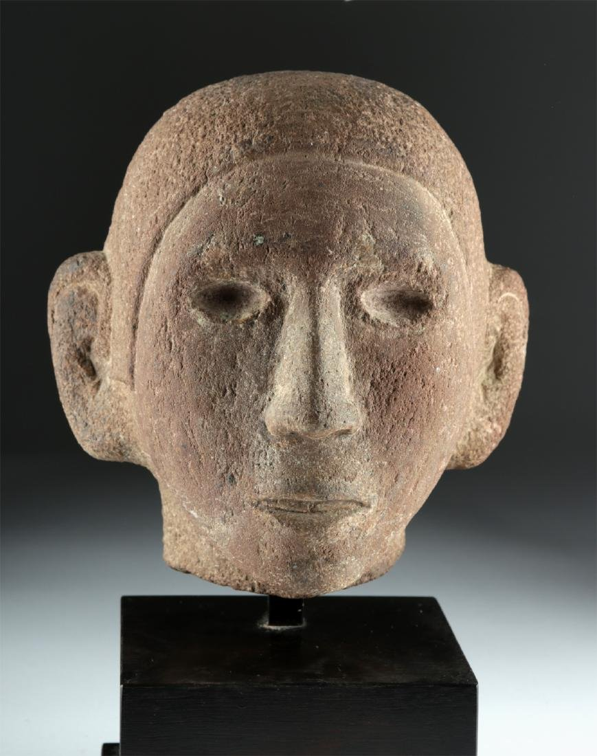 Aztec Stone Head of Young Man, ex-Sotheby's