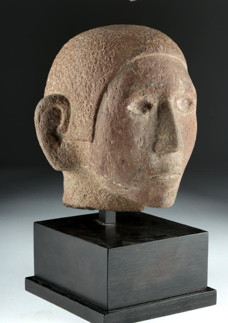 Aztec Stone Head of Young Man, ex-Sotheby's - 2