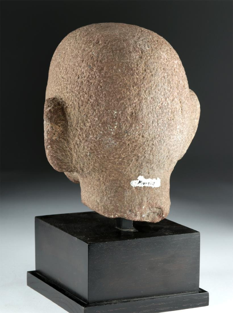 Aztec Stone Head of Young Man, ex-Sotheby's - 4