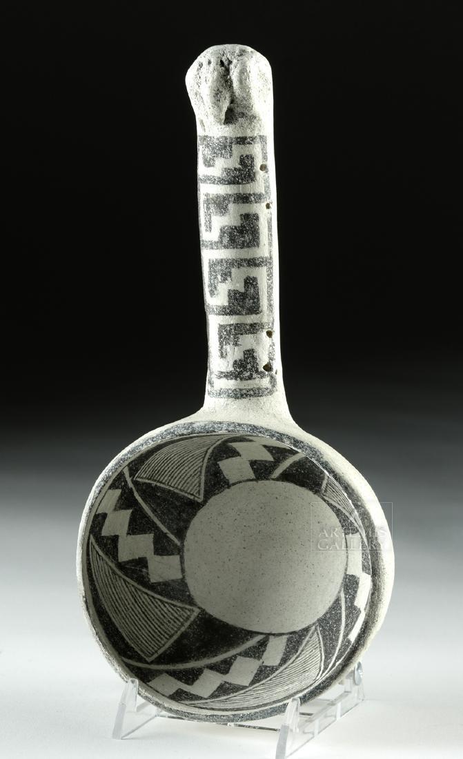 Ancient Anasazi Pottery Black-on-White Ladle