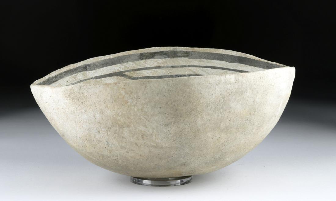 Mimbres Black-on-White Pottery Bowl - 2