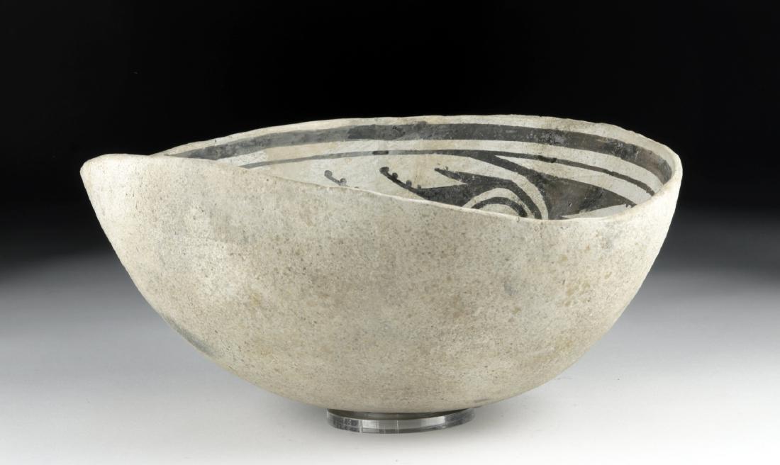 Mimbres Black-on-White Pottery Bowl - 3