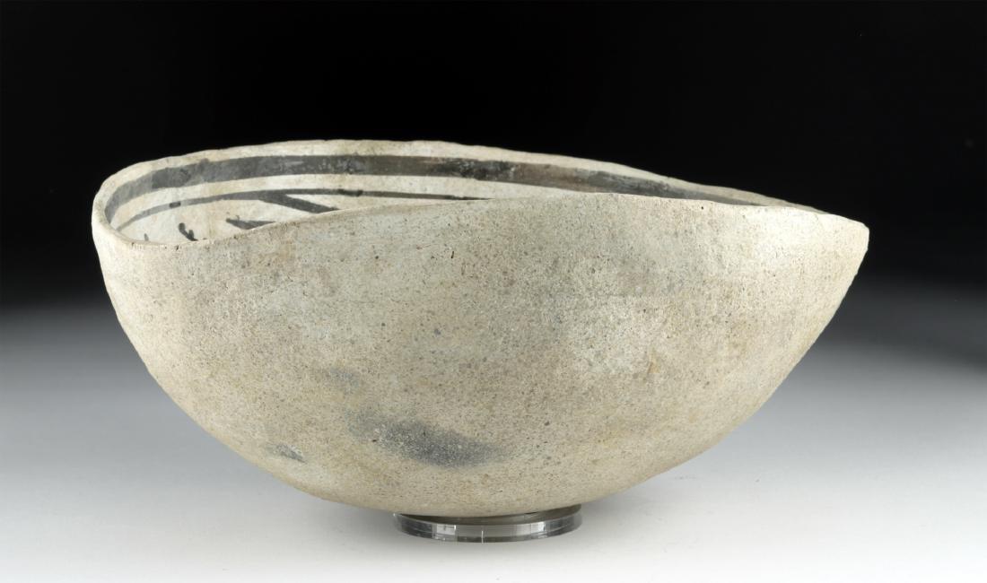 Mimbres Black-on-White Pottery Bowl - 4