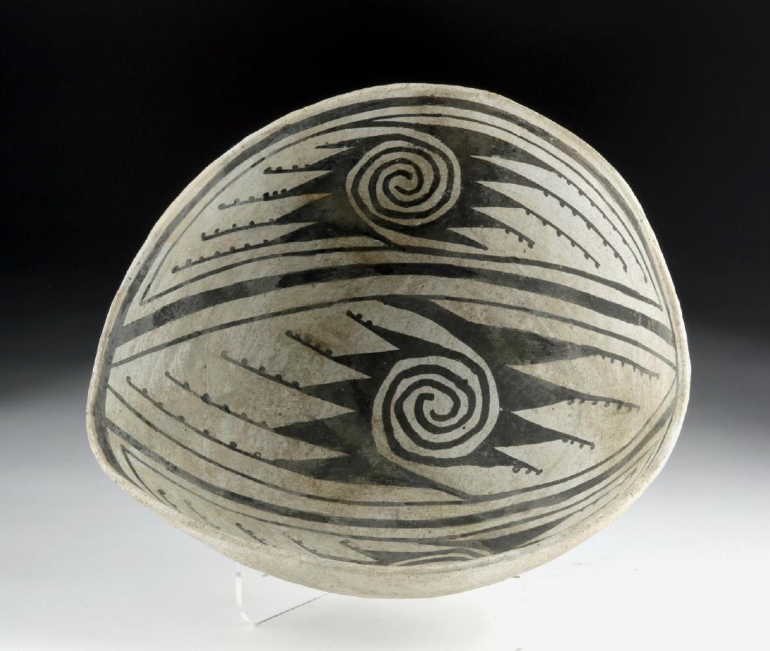 Mimbres Black-on-White Pottery Bowl - 5