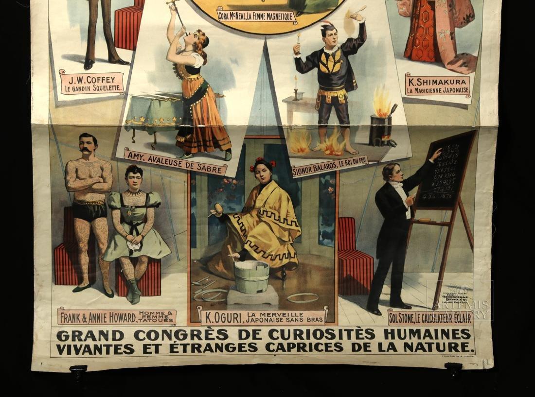 Original French 19th C. Barnum & Bailey Circus Poster - 2
