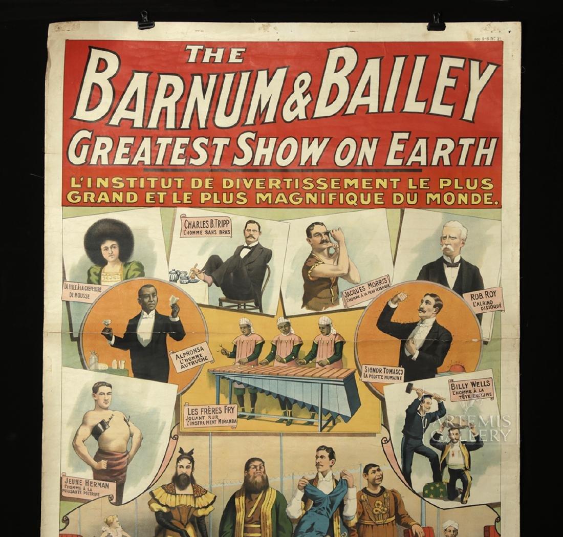 Original French 19th C. Barnum & Bailey Circus Poster - 4