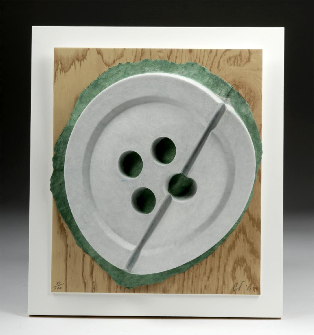"""Signed & Numbered Claes Oldenburg  """"Broken Button"""" 1981 - 2"""