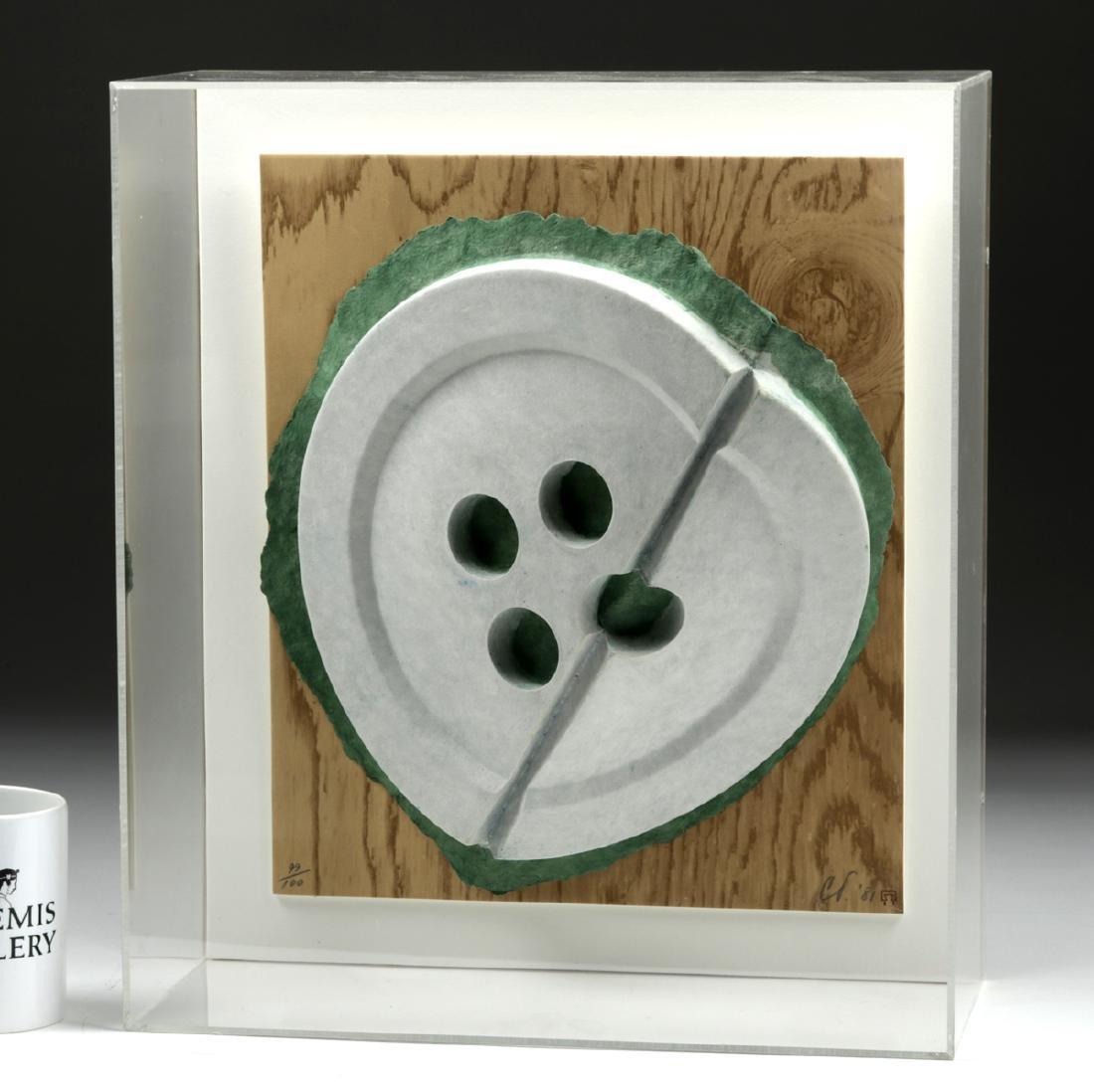 """Signed & Numbered Claes Oldenburg  """"Broken Button"""" 1981 - 6"""