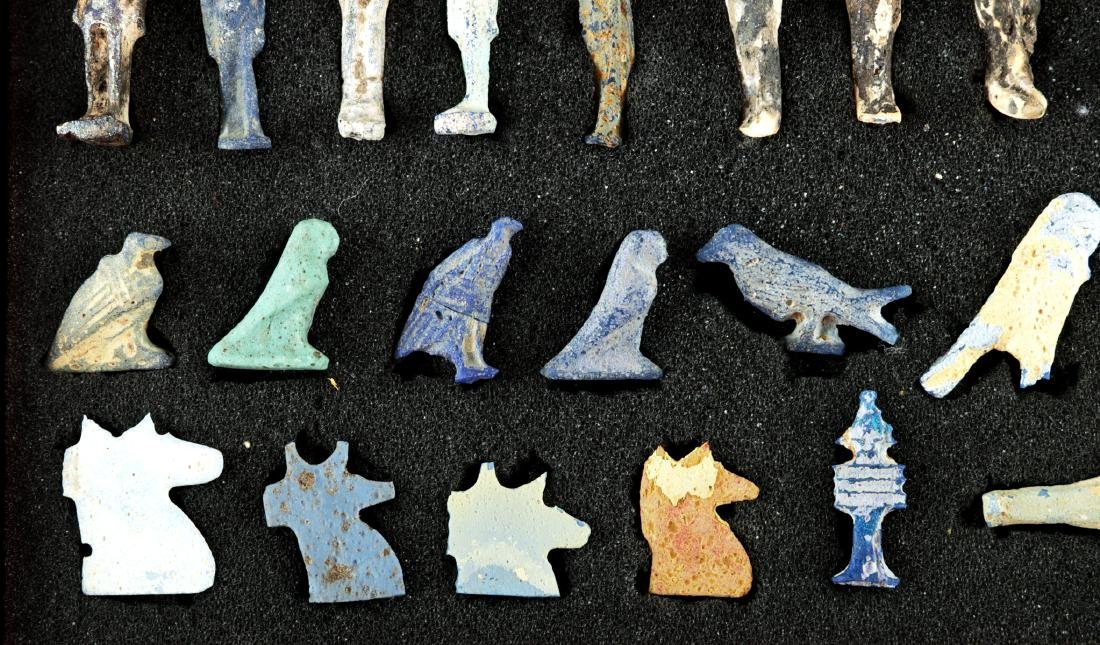 Collection of 42 Egyptian Faience Amulets - 2