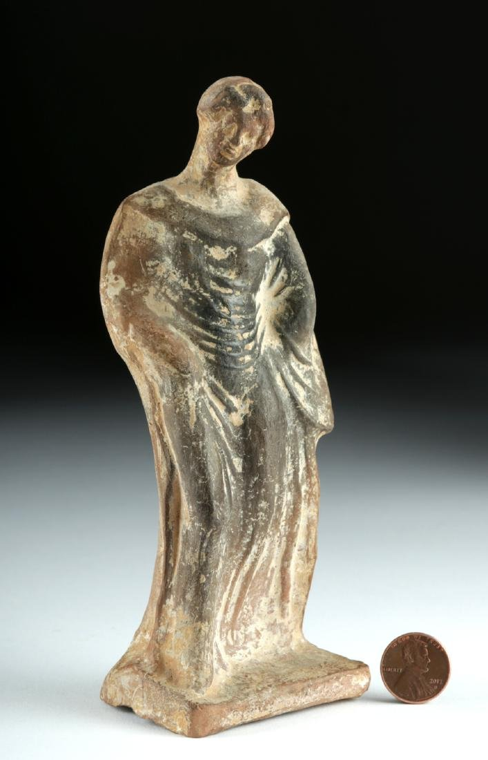 Greek Hellenistic Pottery Standing Female Figure