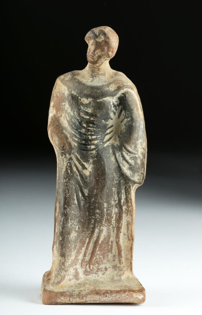 Greek Hellenistic Pottery Standing Female Figure - 2