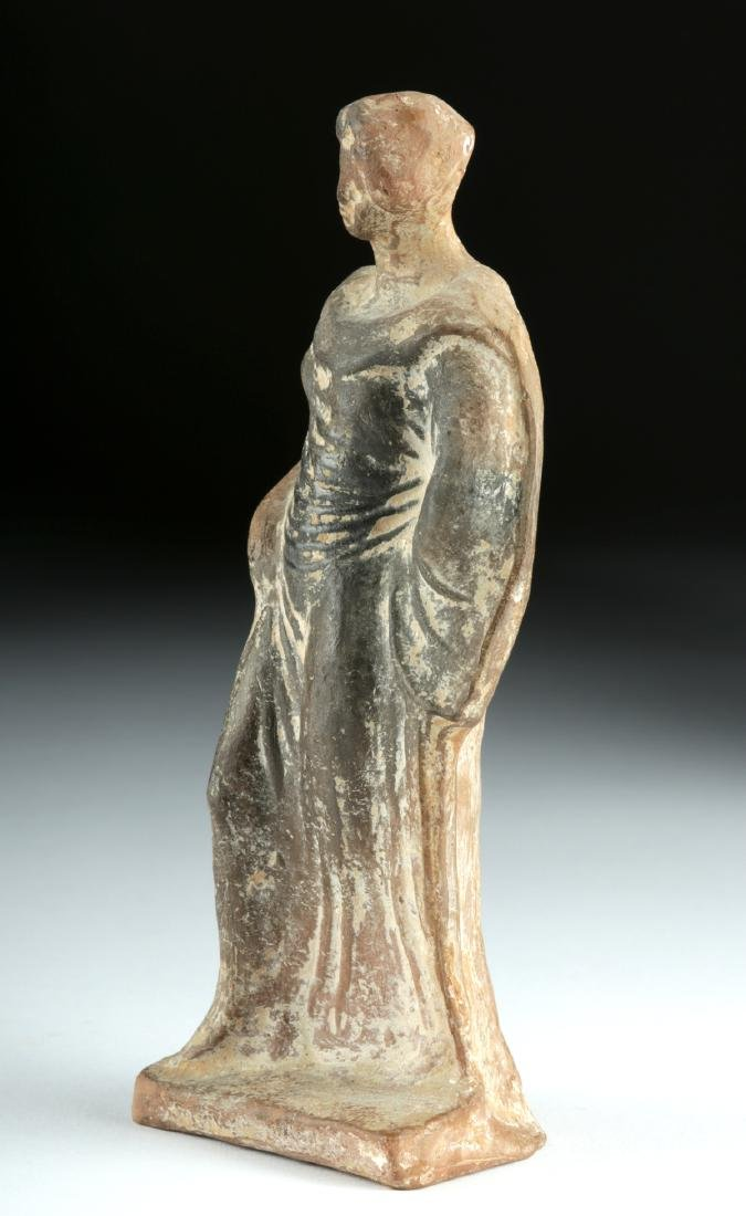 Greek Hellenistic Pottery Standing Female Figure - 3