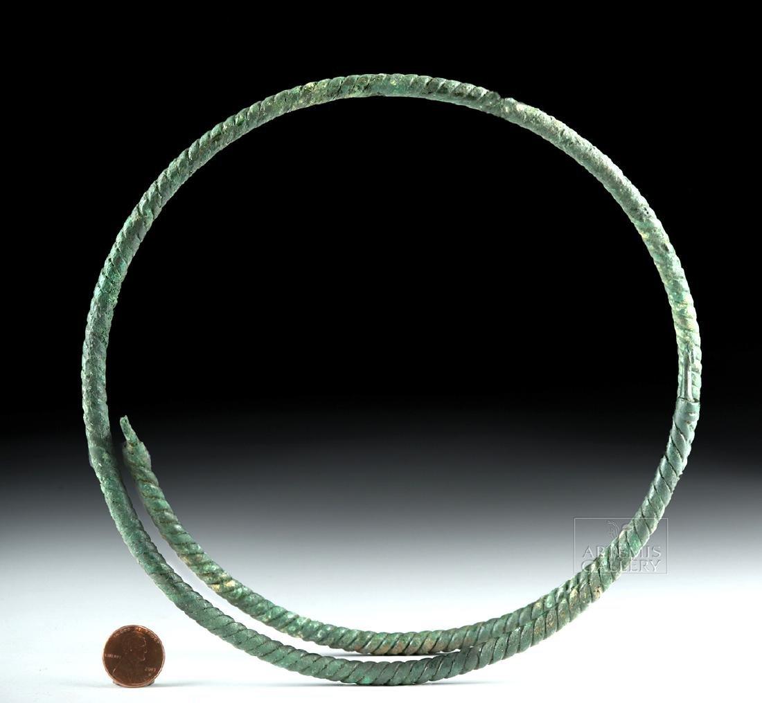 Large Viking Bronze Torc - Spiral Motif - 2