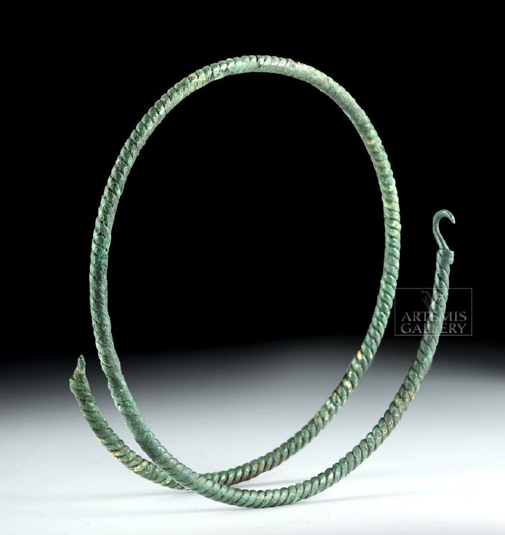 Large Viking Bronze Torc - Spiral Motif - 3