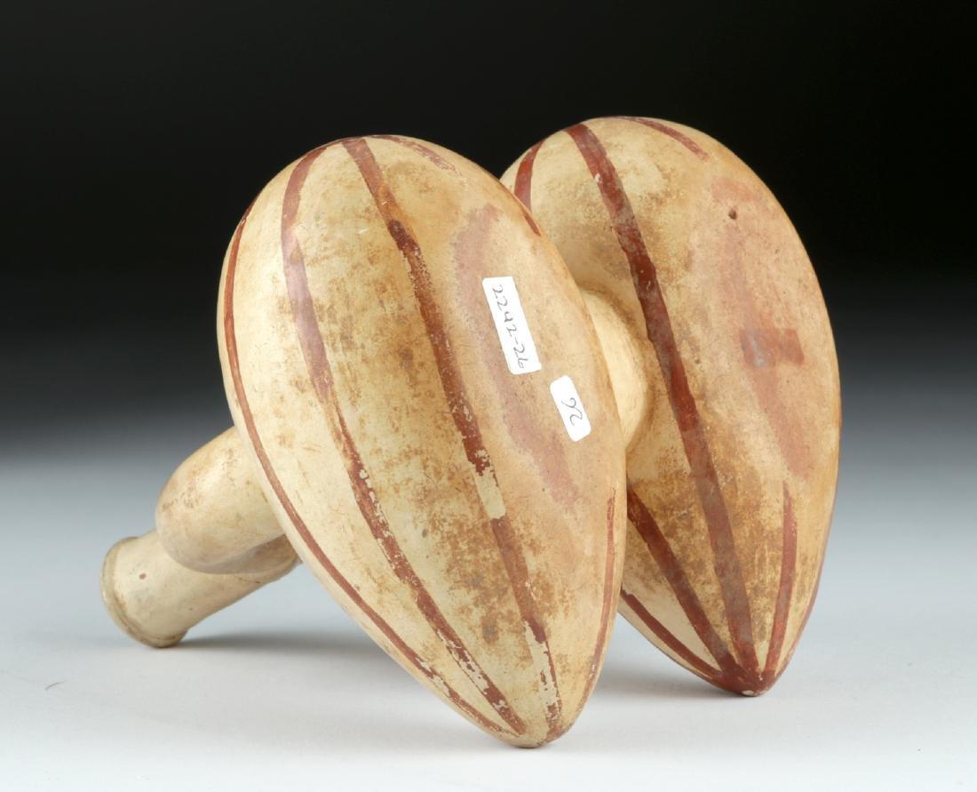 Moche I Bi-chrome Stirrup Vessel, 2 Fruits / Vegetables - 6