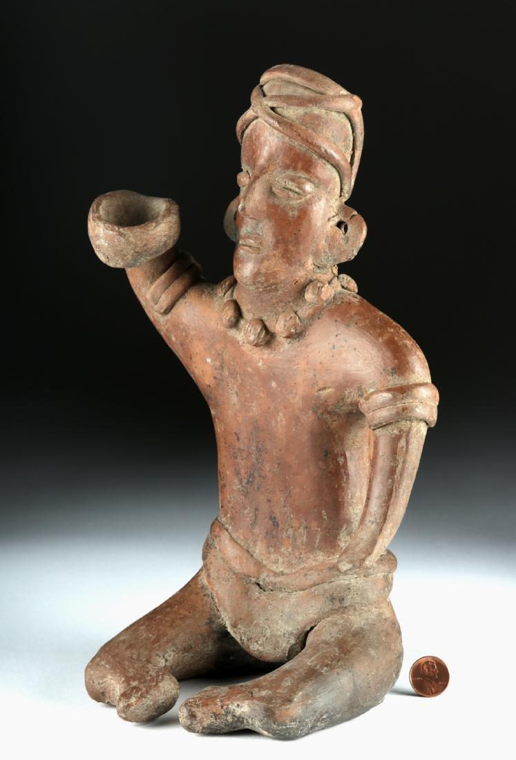 Colima Pottery Seated Male Figure