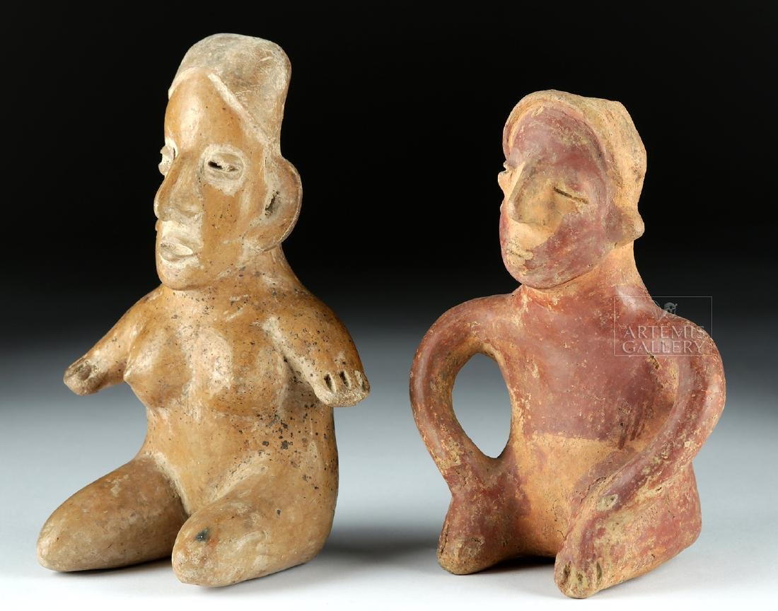 Lot of 2 Pottery Figures - Jalisco & Colima Pihuamo