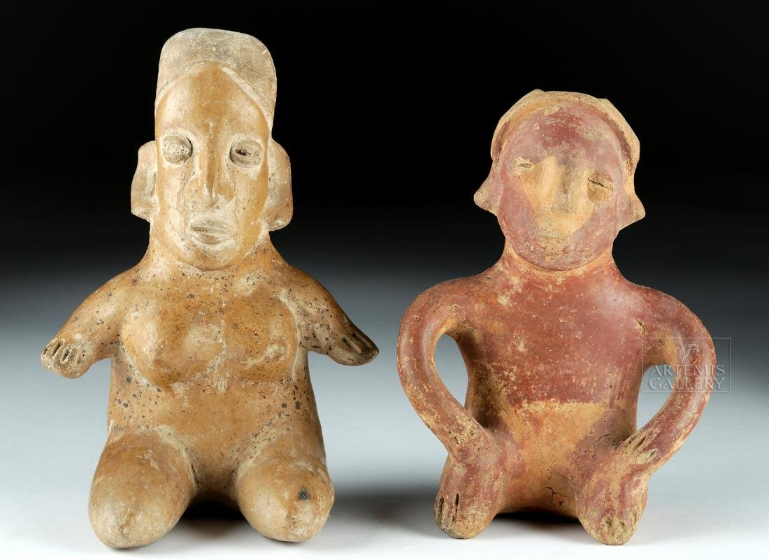 Lot of 2 Pottery Figures - Jalisco & Colima Pihuamo - 2