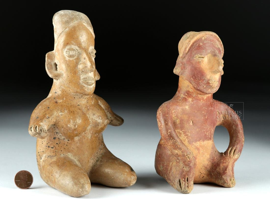 Lot of 2 Pottery Figures - Jalisco & Colima Pihuamo - 3