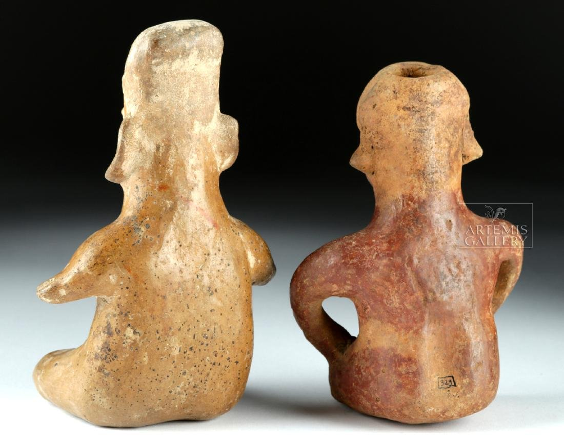 Lot of 2 Pottery Figures - Jalisco & Colima Pihuamo - 4