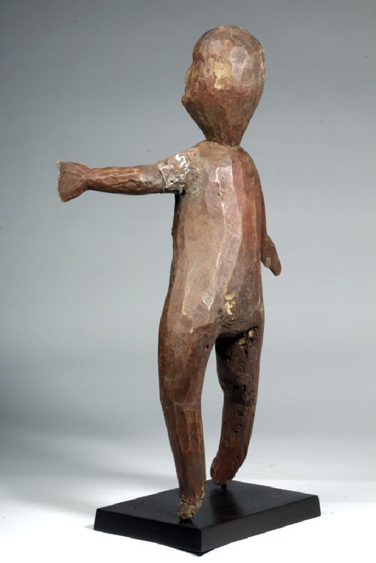 20th C. African Sukuma Wood / Metal Ancestor Figure - 3