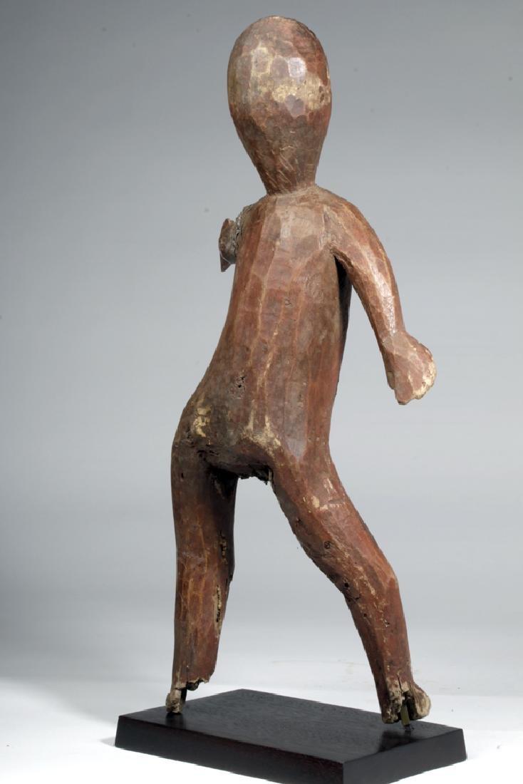 20th C. African Sukuma Wood / Metal Ancestor Figure - 4