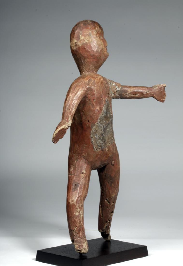 20th C. African Sukuma Wood / Metal Ancestor Figure - 5