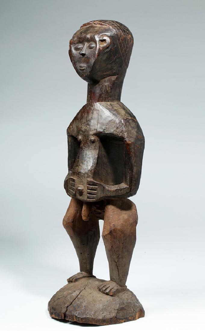 Early 20th C. African Kuba Wood Standing Male Figure - 2