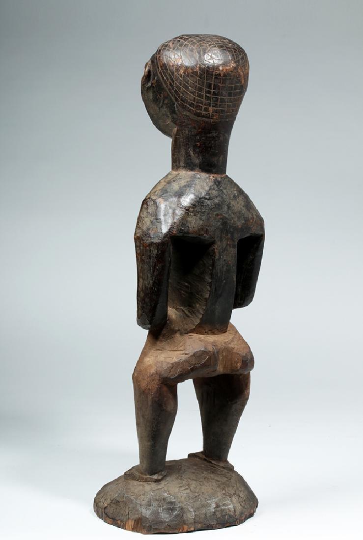 Early 20th C. African Kuba Wood Standing Male Figure - 3