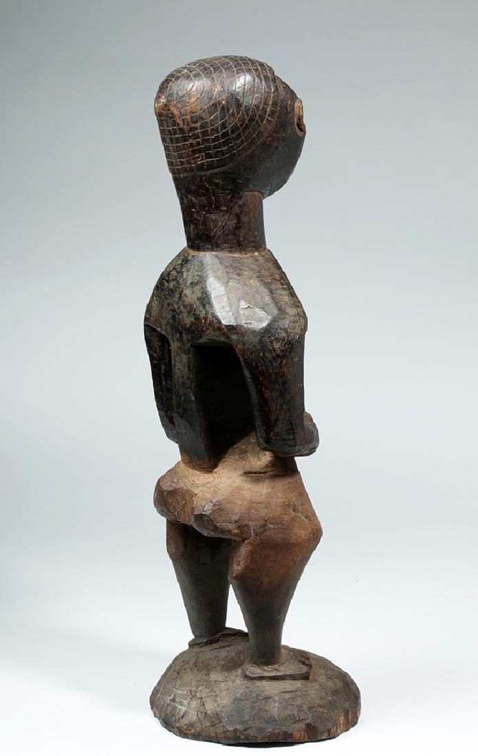 Early 20th C. African Kuba Wood Standing Male Figure - 4