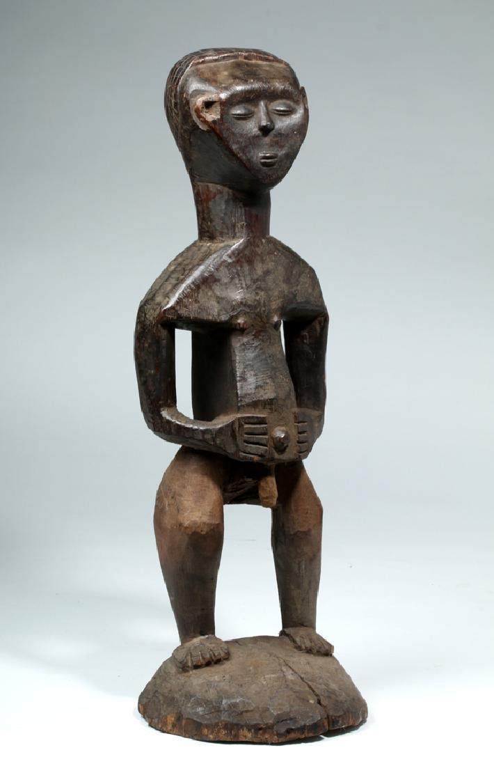 Early 20th C. African Kuba Wood Standing Male Figure - 5